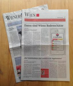 "Foto of UpDownVienna Pint Article in the ""Wiener Zeitung"" Newspaper"